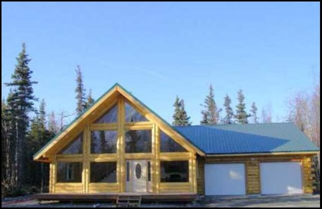 Timberline log homes alaska for Kit homes alaska